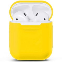 Чехол для Airpods 2 Silicon case Yellow