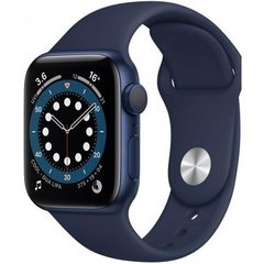 Apple Watch Series 6 40mm GPS Blue Aluminum Case with Deep Navy Sport Band (MG143)