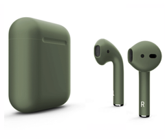 Чехол для Airpods 2 Silicon case Dark Green