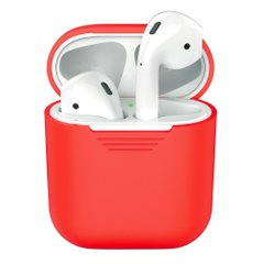 Чехол для Airpods 2 Silicon case Red