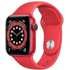 Apple Watch Series 6 44mm GPS Red Aluminum Case with (PRODUCT) RED Sport Band (M00M3)